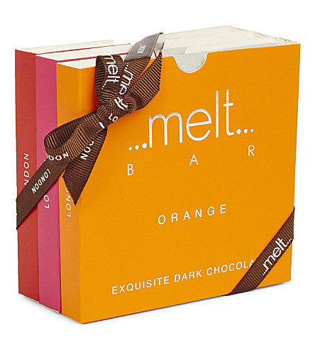 MELT Chili, Orange and Raspberry chocolate bar set 270g