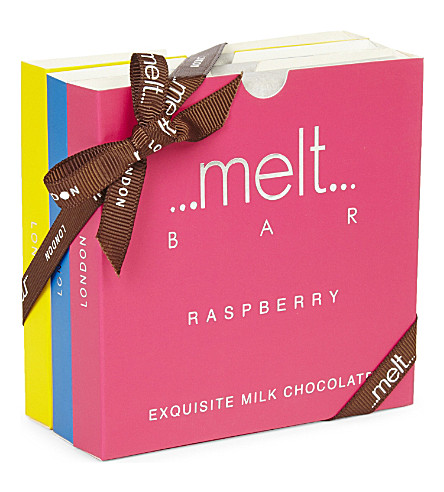 MELT Sea Salt, Popcorn and Raspberry chocolate bar set 270g