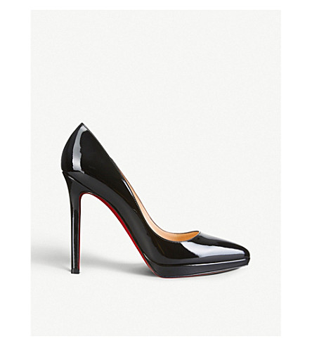 CHRISTIAN LOUBOUTIN Pigalle plato 120 patent calf (Black