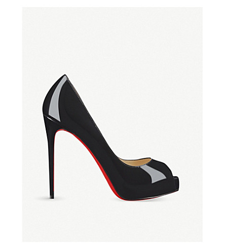 CHRISTIAN LOUBOUTIN New Very Prive 120 patent (Black
