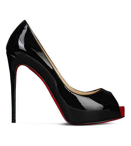 CHRISTIAN LOUBOUTIN New Very Prive 120 patent (Black/red+018