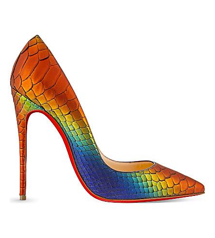 CHRISTIAN LOUBOUTIN So Kate 120 python rainbow (Capucine