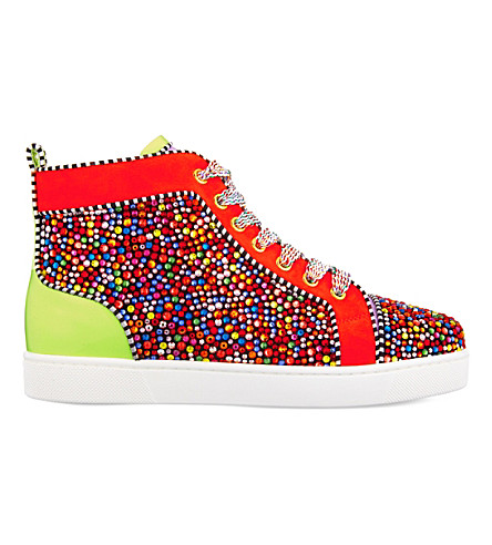 CHRISTIAN LOUBOUTIN Louis Strass nappa/suede/patent (Version multi
