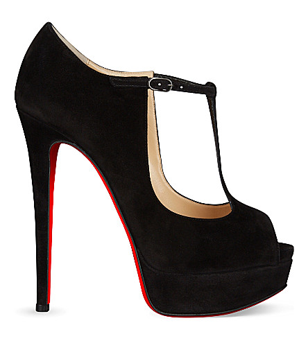 CHRISTIAN LOUBOUTIN Altapoppins 150 suede (Black