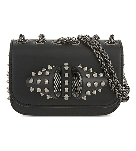 CHRISTIAN LOUBOUTIN Sweety charity nv spikes (Black/gun+metal