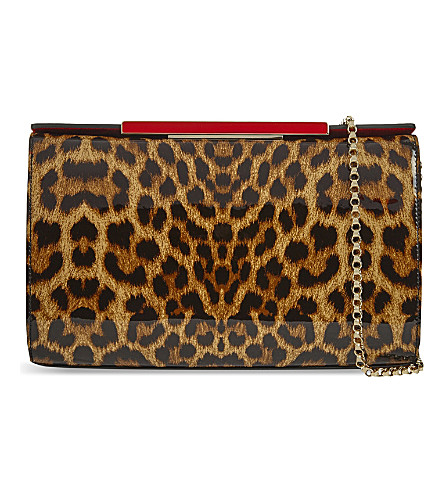 CHRISTIAN LOUBOUTIN Vanité large clutch (Brown