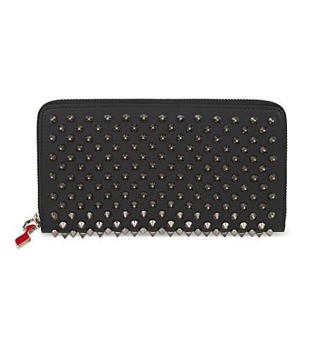 CHRISTIAN LOUBOUTIN Panettone wallet (Black/gun+metal