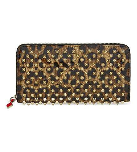 CHRISTIAN LOUBOUTIN Panettone wallet (Brown/gold