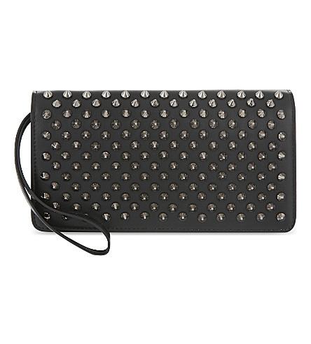CHRISTIAN LOUBOUTIN Macaron wallet (Black/gun+metal