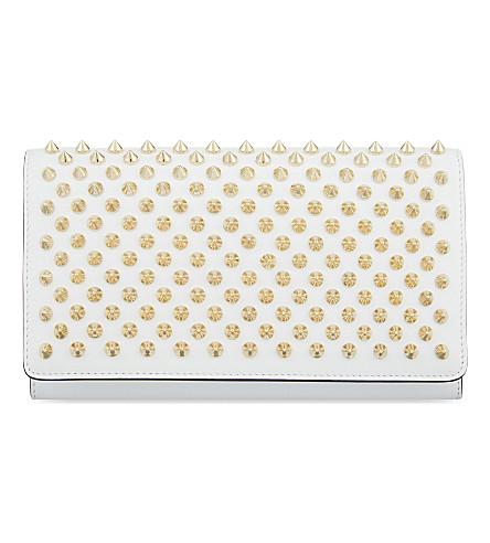 CHRISTIAN LOUBOUTIN Macaron wallet (White/gold
