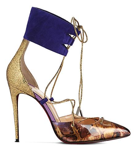 CHRISTIAN LOUBOUTIN Corsankle 100 patent leather/glitter (Version multi