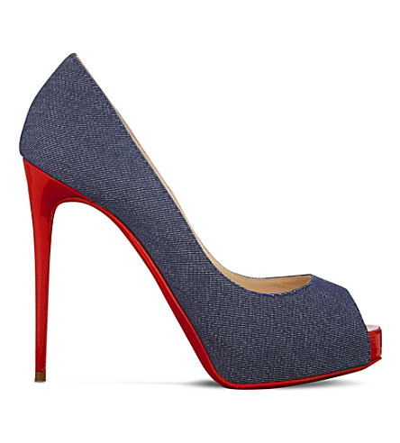 2c7ca681acc1 CHRISTIAN LOUBOUTIN - New Very Prive 120 denim patent toe ...