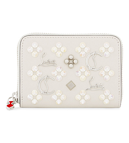 CHRISTIAN LOUBOUTIN Panettone coin purse (Ivory/multimetal