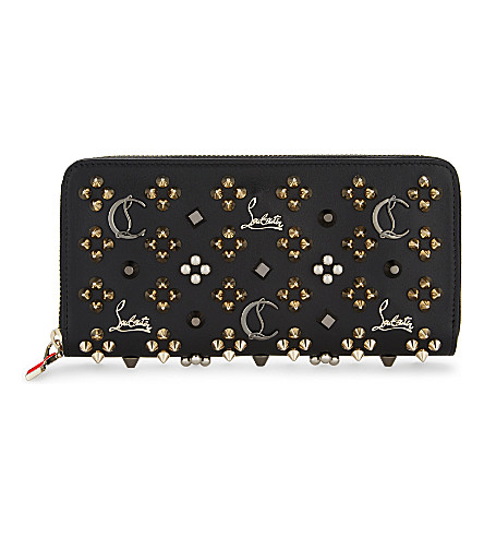 CHRISTIAN LOUBOUTIN Panettone wallet (Black/multi+metal