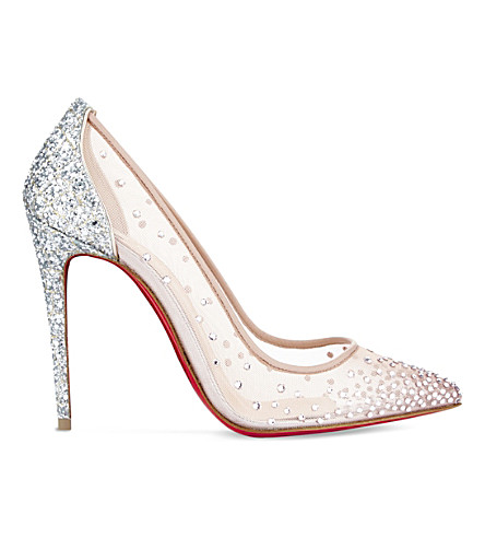 CHRISTIAN LOUBOUTIN Follies strass 100 rete/nap (Version+crystal