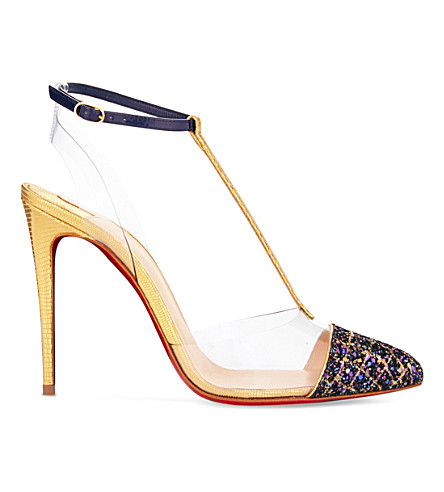CHRISTIAN LOUBOUTIN Nosy 100 aliglitt/pvc/lam (Version+china+blue
