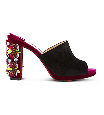 CHRISTIAN LOUBOUTIN Donaflor 100 velvet (Version+figue