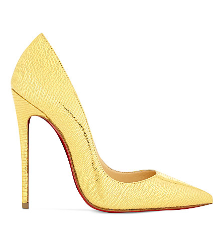 CHRISTIAN LOUBOUTIN So kate 120 laminato dino (Gold