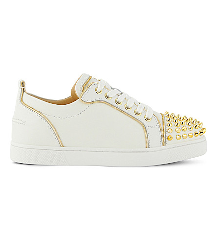 CHRISTIAN LOUBOUTIN Junior Z spikes fla (Latte/gold
