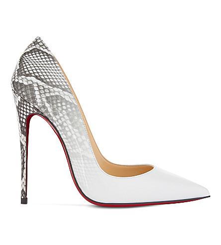 CHRISTIAN LOUBOUTIN So Kate 120 Patent Degrade Roccia (White-roccia