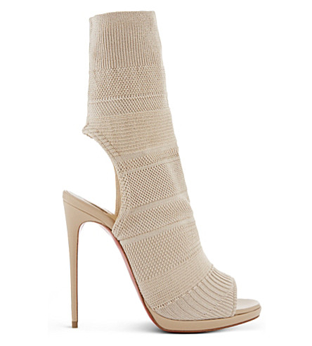 CHRISTIAN LOUBOUTIN Cheminene 120 maille tric (Beige