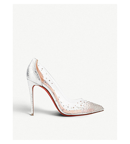 60602e7ae188 CHRISTIAN LOUBOUTIN Degrastrass pvc 100 pvc s (Version+silver