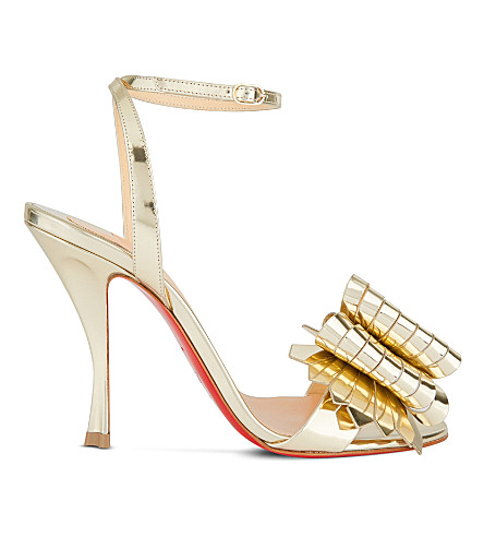 CHRISTIAN LOUBOUTIN Miss Valois 100 Specchio (Light+gold