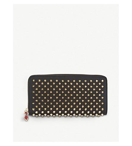 CHRISTIAN LOUBOUTIN Panettone leather wallet (Black/gold