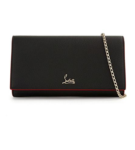 CHRISTIAN LOUBOUTIN W boudoir chain wallet c (Black/gold
