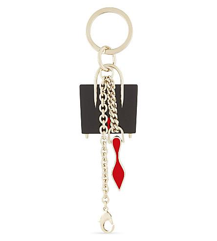 CHRISTIAN LOUBOUTIN Paloma keyring (Black-red/gold