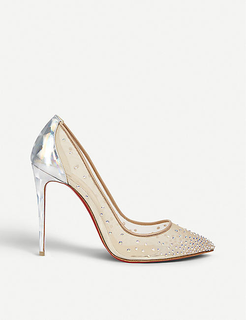 f24a9222c0b0 CHRISTIAN LOUBOUTIN - Follies strass 100 rete prisme version s ...