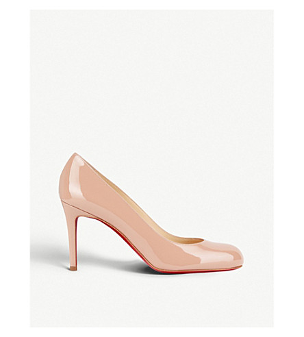 CHRISTIAN LOUBOUTIN Simple pump 85 patent calf (Nude+6248