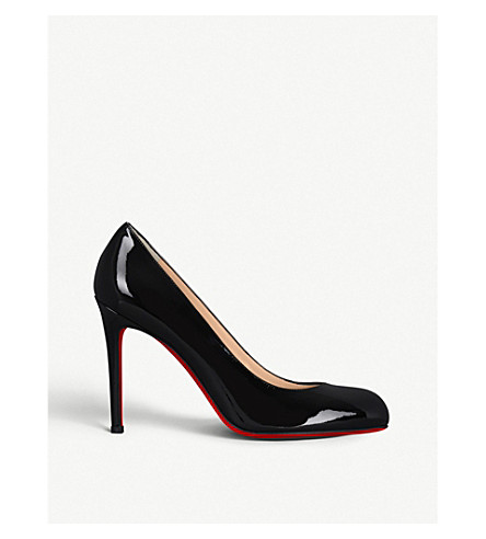 CHRISTIAN LOUBOUTIN Simple pump 100 patent calf (Black