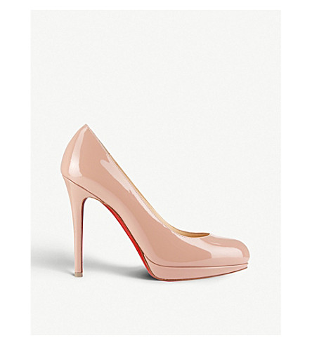 CHRISTIAN LOUBOUTIN New simple pump 120 patent calf (Nude+6248