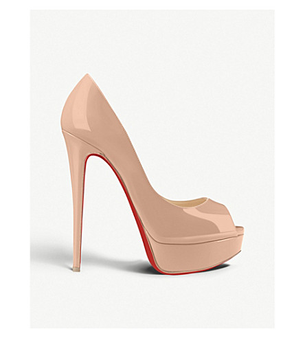 CHRISTIAN LOUBOUTIN - Lady Peep 150 patent calf  38e5c7a380