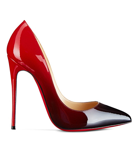 CHRISTIAN LOUBOUTIN Pigalle follies 120 patent degrade (Black-red