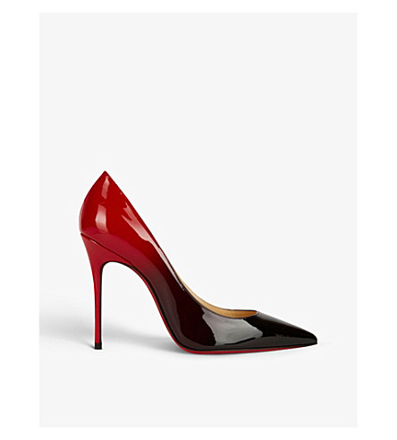 CHRISTIAN LOUBOUTIN Decollete 554 100 patent degrade (Black-red