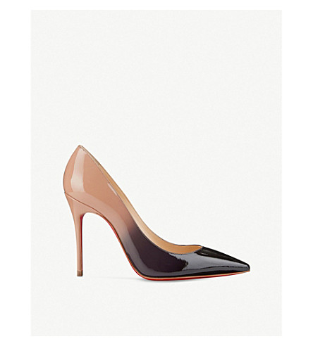 CHRISTIAN LOUBOUTIN Decollete 554 100 patent degrade (Black-nude