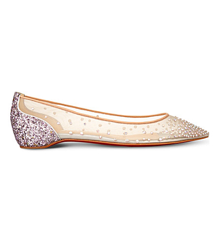 christian louboutin follies strass flats