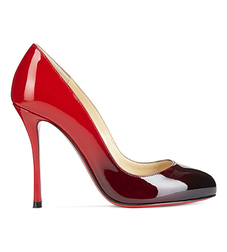 CHRISTIAN LOUBOUTIN Merci allen 100 patent degrade (Black-red