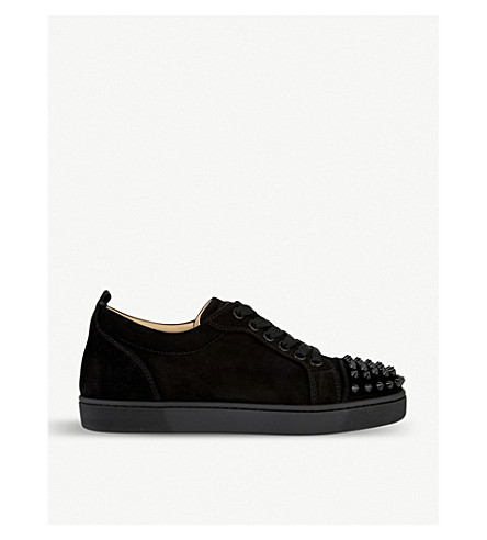 CHRISTIAN LOUBOUTIN Louis Junior spikes/veau velo (Black/black