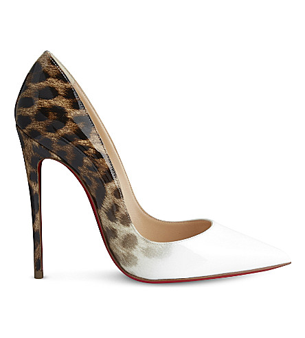 CHRISTIAN LOUBOUTIN So kate 120 patent degrade leopard (Latte-leo 50s