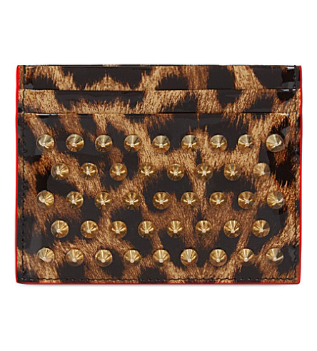 CHRISTIAN LOUBOUTIN Kios card holder (Brown