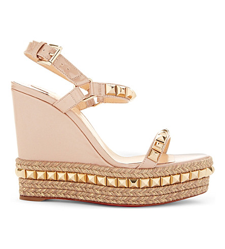 CHRISTIAN LOUBOUTIN Cataclou 120 patent nacre (Nude/light+gold