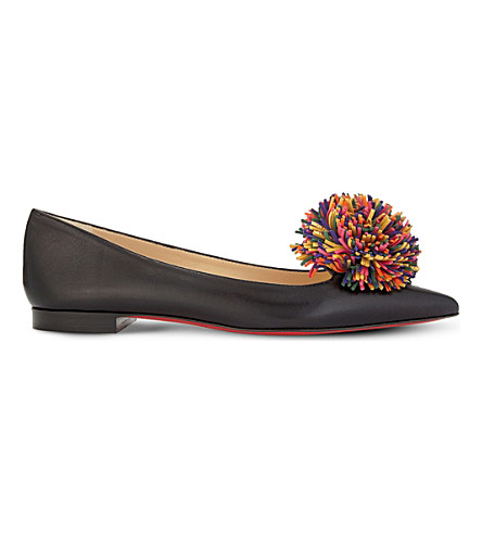 CHRISTIAN LOUBOUTIN Konstantina flat shiny/vv/suede (Version+black