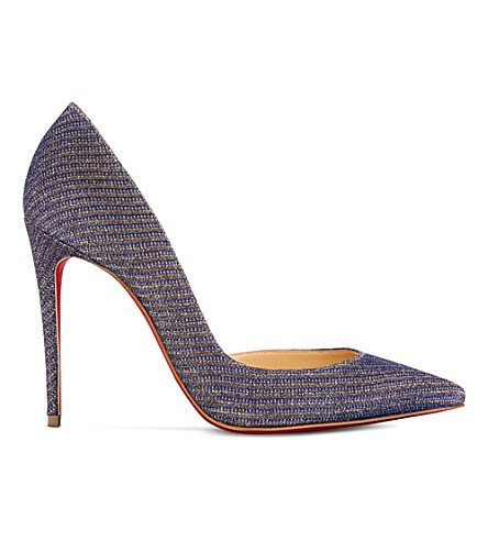CHRISTIAN LOUBOUTIN Iriza 100 glitter chain/spec (Atlantic/light+gold