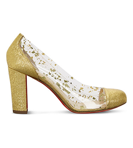 CHRISTIAN LOUBOUTIN Un Bout Rond 85 specchio vintage (Gold/clear+oro