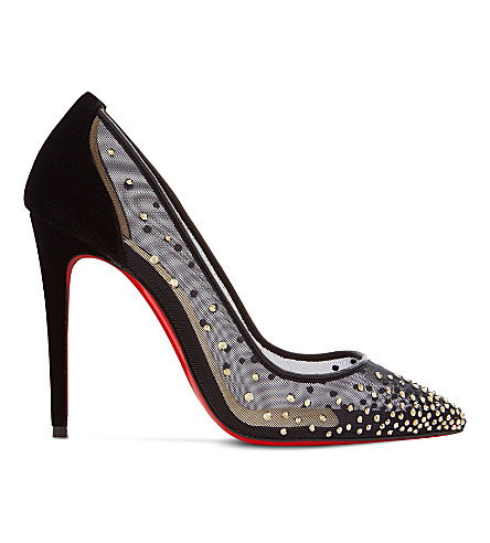 CHRISTIAN LOUBOUTIN Follies Strass 100 rete/nap (Version+crystal+met