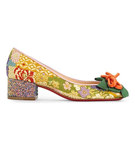 CHRISTIAN LOUBOUTIN Dolly Dola 35 tissu/textile/glitter (Version+pollen