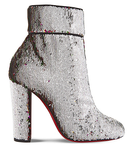 CHRISTIAN LOUBOUTIN Moulamax 100 paillettes caresse/gg (Silver/multi